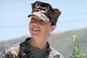 Photo for First Female Marine To Head A Combat Brigade Completes Assignment This Week
