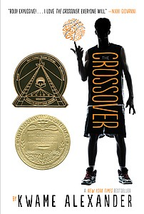 The book cover for the paperback edition of 'The Crossove...