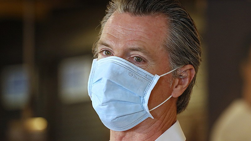 File photo of California Gov. Gavin Newsom seen here in Sacramento on June 19...