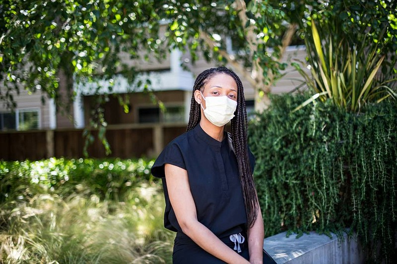 Dr. Tiffany Chioma Anaebere near her home in Emeryville in this undated photo...