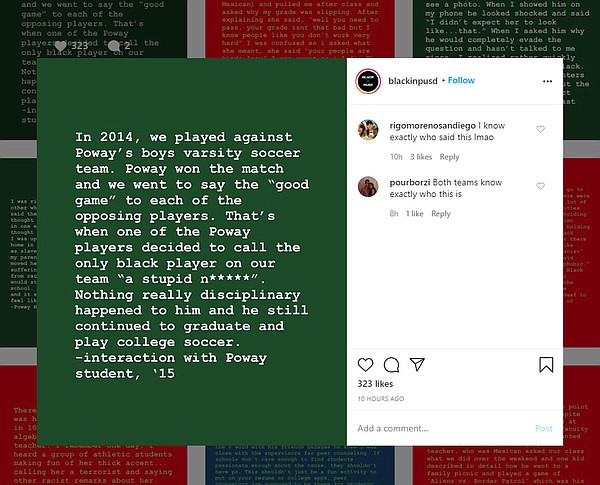A post from BlackInPSUD on Instagram in this screengrab o...