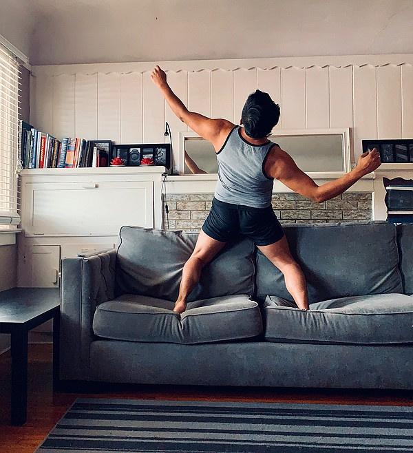 Dancer Marty Dorado dances at home for PGK Dance Project'...