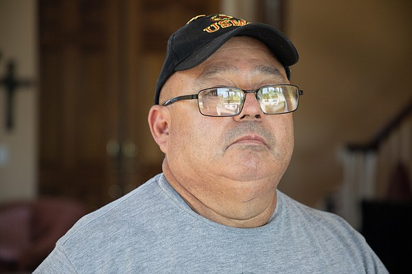 Marine veteran Hector Mejia is shown in Ramona on June 13...