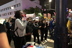 Photo for Live Blog: Protesters Gather in Downtown San Diego Saturday Night After San D...