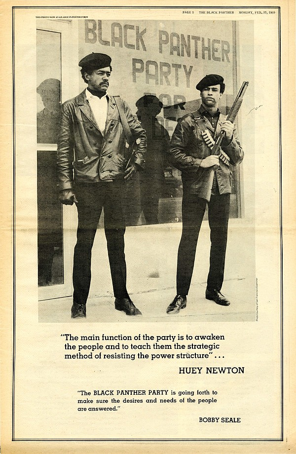 A page from The Black Panther Newspaper in 1969.