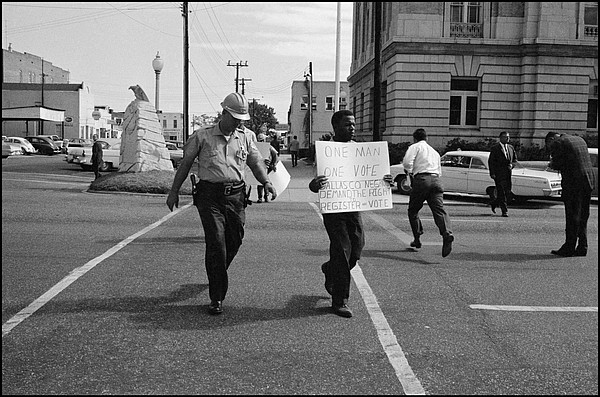 John Lewis during the civil rights movement of the 1960s.