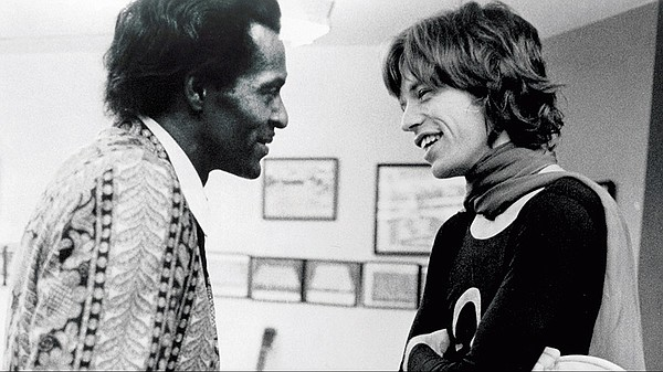 Chuck Berry with Mick Jagger of The Rolling Stones (undat...
