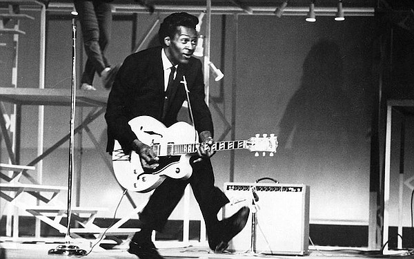 Chuck Berry performing (undated photo)