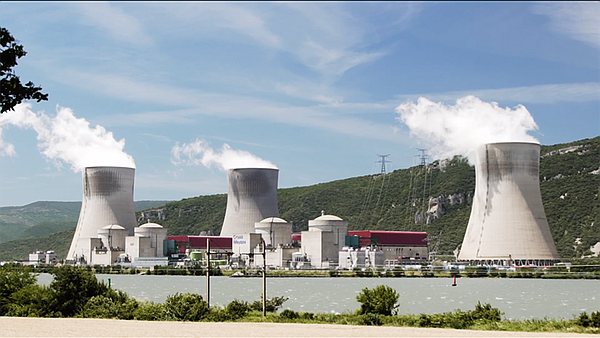 Nuclear Power Plant using water for cooling, France.