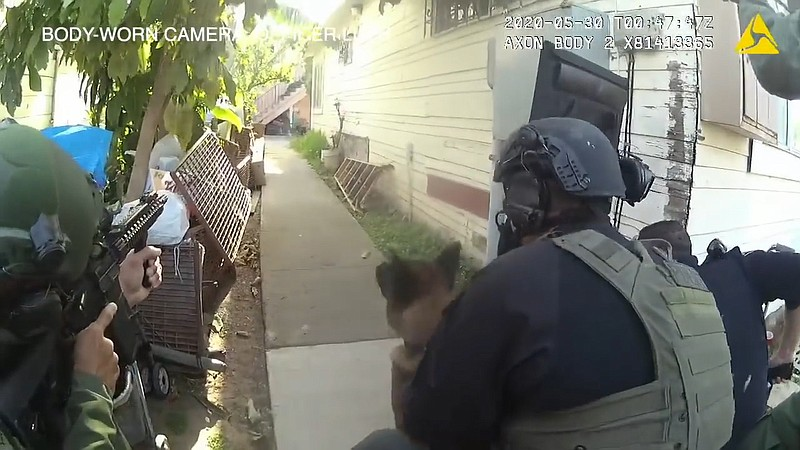 Still from a body-worn camera of a fatal police shooting in City Heights on M...