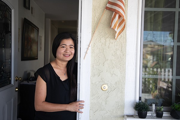 Witchelda Bondoc is shown at her home in National City, J...