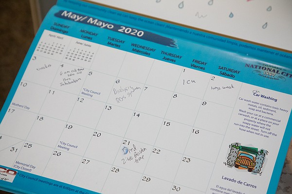 This is the calendar Witchelda Bondoc used to take notes ...