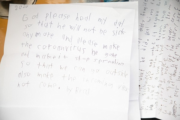 Letters from Joseph Bondoc's children asked God to heal t...