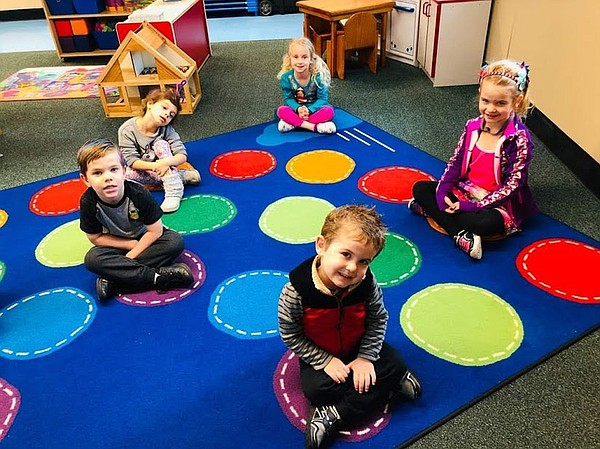 Children play at Magic Hours Preschool in Mira Mesa in th...