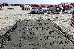 Photo for Shark Sightings Off Coronado Lead To Warnings For Beachgoers