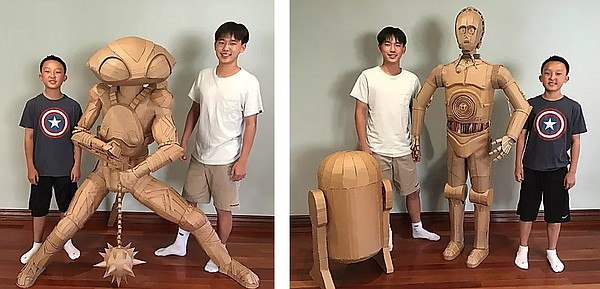 Brothers Bauer and Connor Lee, the creators of Cardboard ...