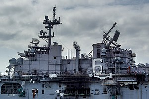 Photo for Future Of USS Bonhomme Richard Still Uncertain As Navy Assesses Damage