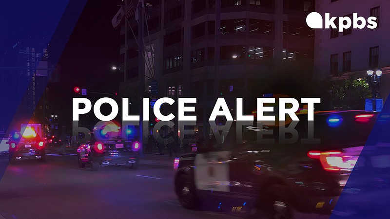 A KPBS police alert graphic is pictured in this undated image.