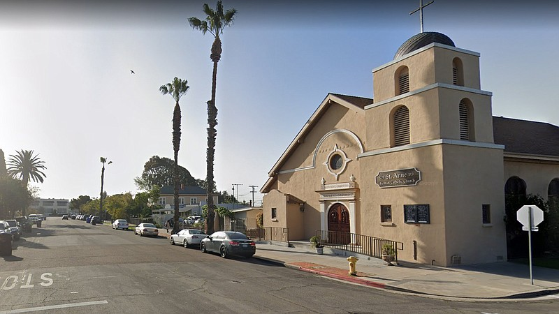 St. Anne's Catholic Church in Logan Heights in this April 2019 photo via Goog...