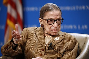Photo for Ruth Bader Ginsburg Undergoes Medical Procedure At Hospital