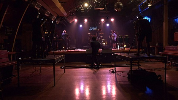The Belly Up sets up their venue for a livestreamed perfo...