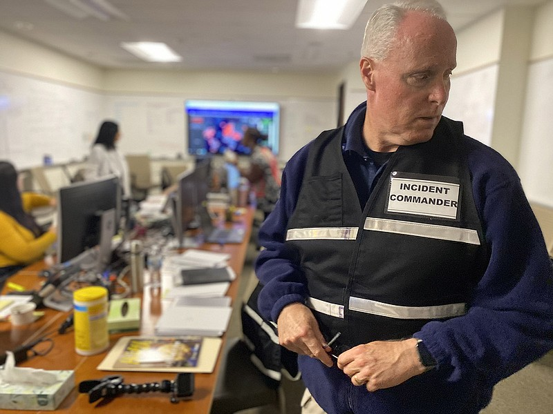 Scripps Health president and CEO Chris Van Gorder wears a vest that says