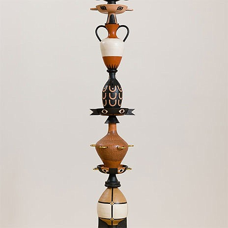 A sculpture by artist Cammie Staros, which is on view onl...