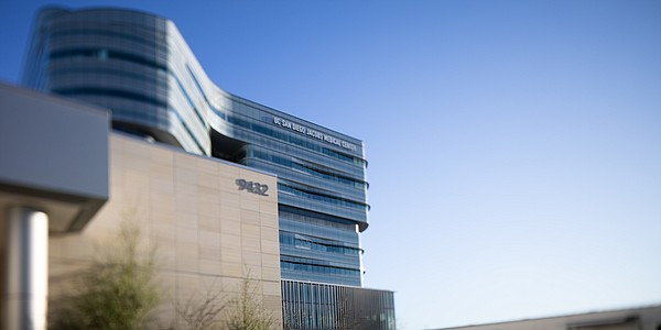 The UC San Diego Jacobs Medical Center is shown on Feb. 1...