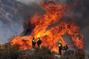 Photo for San Diego County Firefighters Help Battle Apple Fire