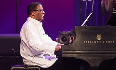 Pianist Herbie Hancock performs at the 2017 Int...
