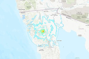 Photo for Pair Of Quakes Hit Baja California, Shaking Felt In San Diego County