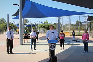 Photo for Mayor Faulconer Signs Order To Allow Gyms, Houses Of Worship To Use Park Space