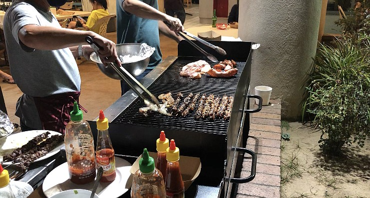 The outdoor grill at Nhu Y on El Cajon Boulevard on Aug. 18, 2020.