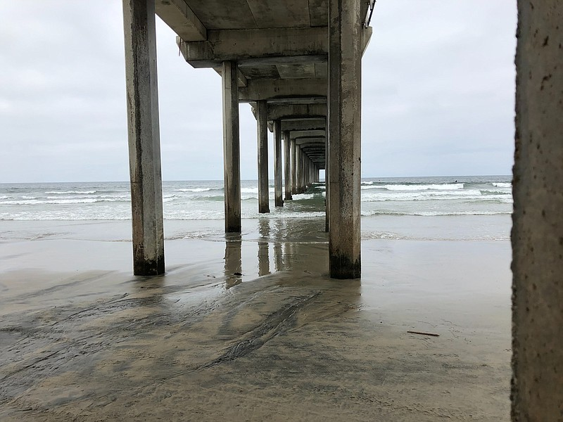 Scripps Pier, where the ocean temperature has been taken daily for more than ...