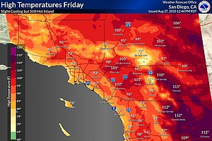 Photo for Heat Expected Again Friday In Deserts, Cooling Begins Elsewhere In SD County