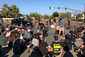 Photo for Black, Latina Women March In Santee Demanding Racial Justice