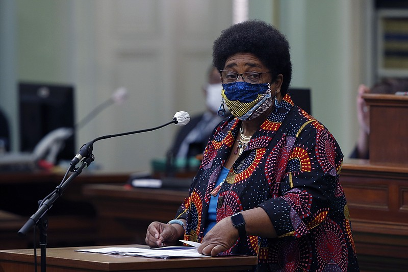 In this June 11, 2020, file photo, Assemblywoman Shirley Weber, D-San Diego, ...