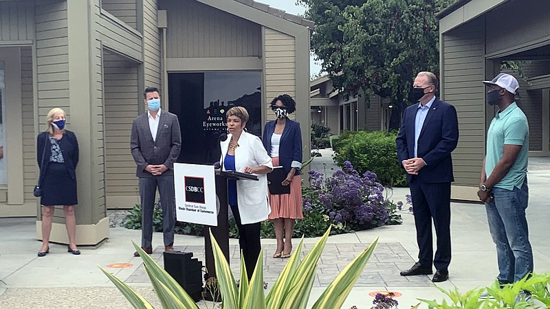 Central San Diego Black Chamber of Commerce president and CEO Donna DeBerry s...