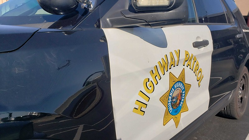 A California Highway Patrol vehicle in San Diego County. Sept. 1, 2020.