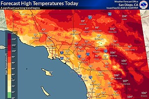 Photo for Warm Up Begins In San Diego County Ahead Of Labor Day Weekend Heat Wave