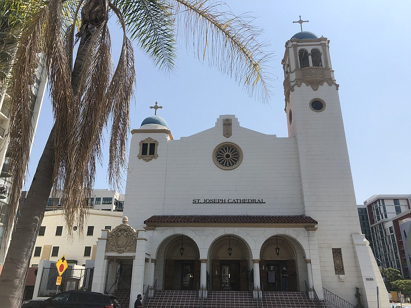 St. Joseph Cathedral in downtown San Diego reopens its doors for indoor churc...