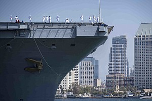 Photo for Aircraft Carrier USS Carl Vinson Returns To NAS North Island