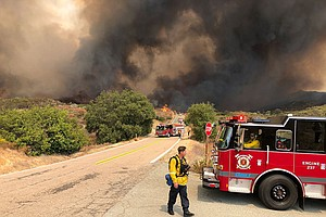 Photo for Governor Declares State of Emergency As Fire Grows To More Than 9,000 Acres I...