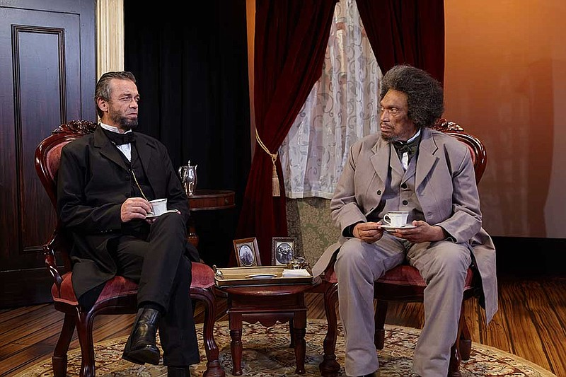 Ray Chambers and Hawthorne James perform in North Coast Repertory Theatre's