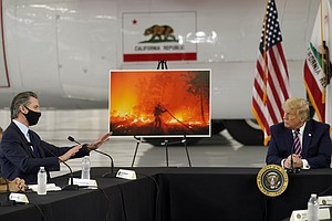 Photo for Newsom Gently Confronts Trump On Climate Change