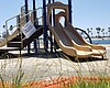 A playground is unused and closed due to the CO...
