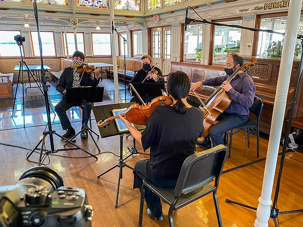 Hausmann Quartet performs aboard the Berkeley at the Mari...