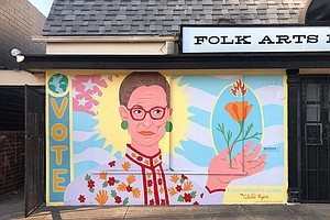 Photo for Folk Arts Rare Records Enlists Artist Celeste Byers For Ruth Bader Ginsburg M...