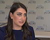 Sara Jacobs inside of her campaign office in th...