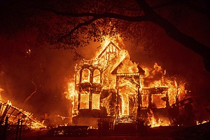 Photo for New California Fire Scorches Wine Country Near San Francisco